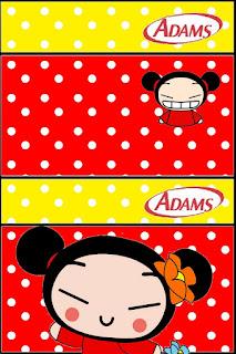 Etiqueta Chicle Adams de Pucca para imprimir gratis.
