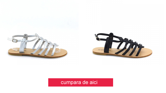 Sandale ieftine comode fara toc de vara negre, albe