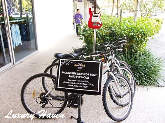 hardrock hotel penang teens club bicycle rental