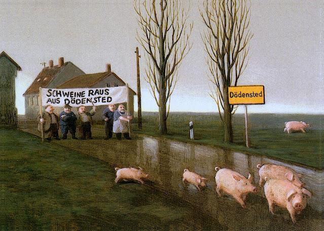 Michael Sowa, a marathon pig race