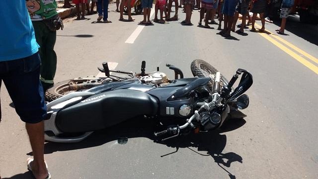 PICOS-Após ser atropelado por moto, caminhão passa por cima da vítima em Picos