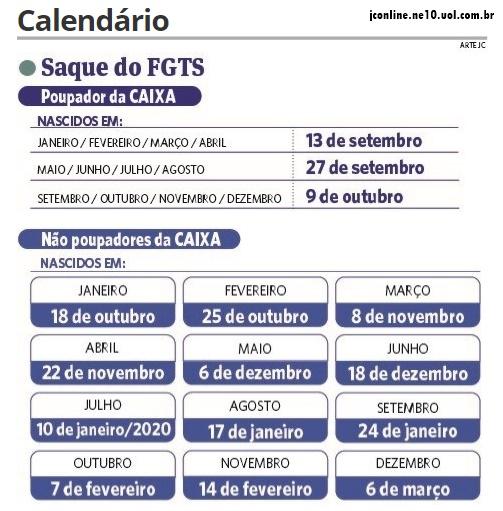 Calendario Dezembro 2019 Janeiro 2020.Blog Do Carlos Eugenio Veja Calendario Saque Do Fgts