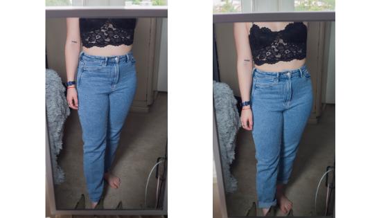 Modré mom jeans Stadivarius
