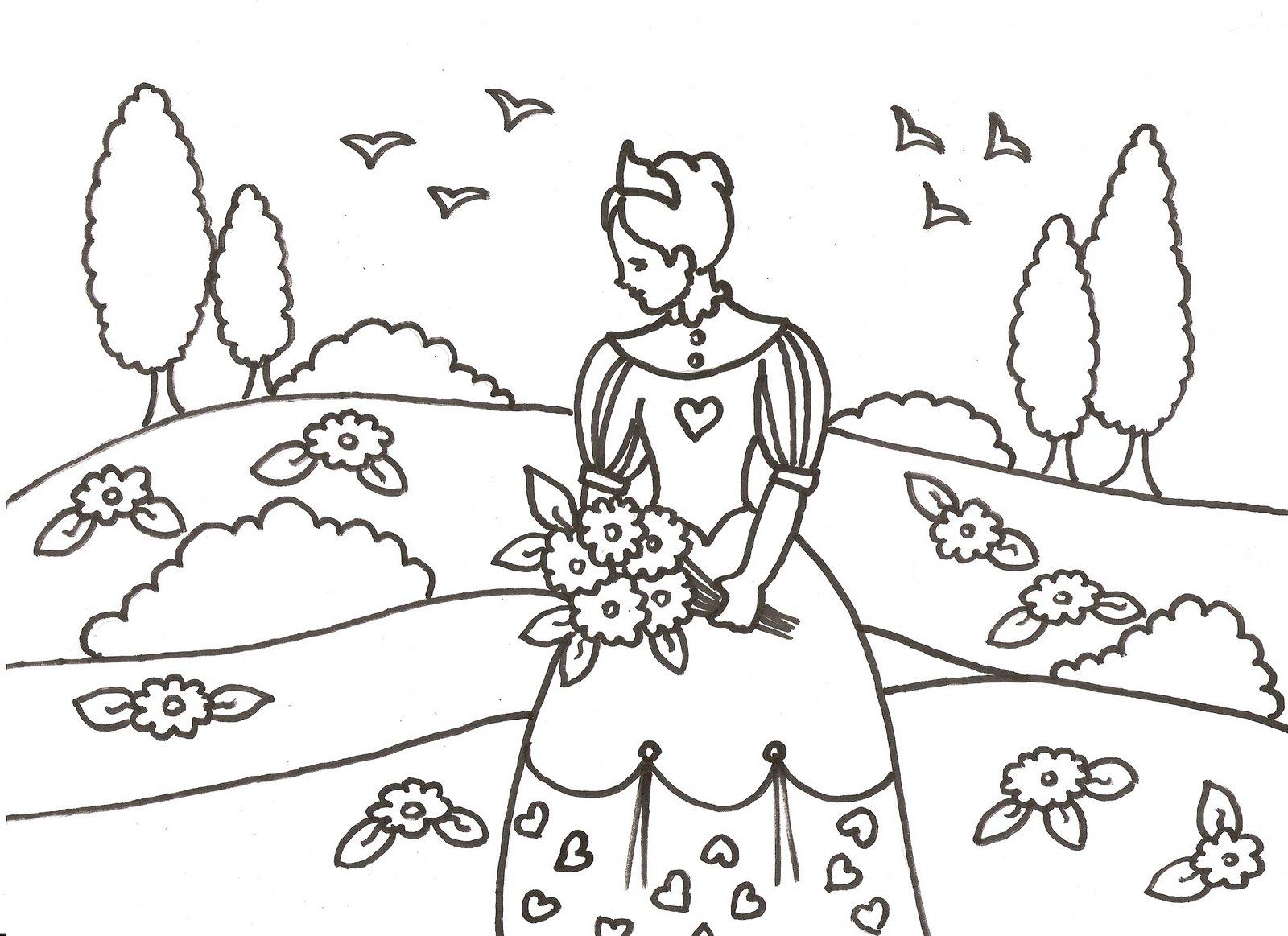 Dibujos Para Colorear Hello Kitty Princesa: Castillo De Princesas Para Colorear