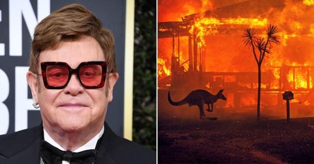 Sir Elton John pledges to donate a huge $1million to Australia fires