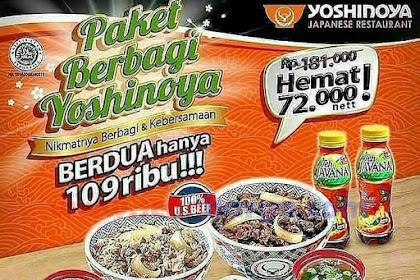 Promo YOSHINOYA Terbaru Makan Ber2 Hanya 100 Ribuan Hingga 30 Juni 2019