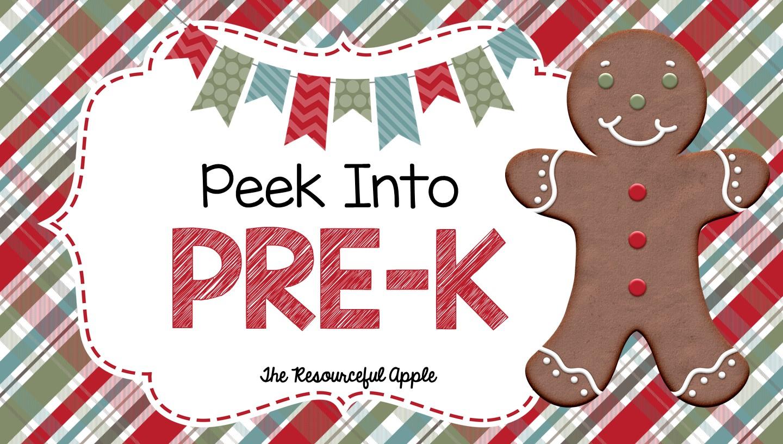 The Resourceful Apple Peek Into Pre K December