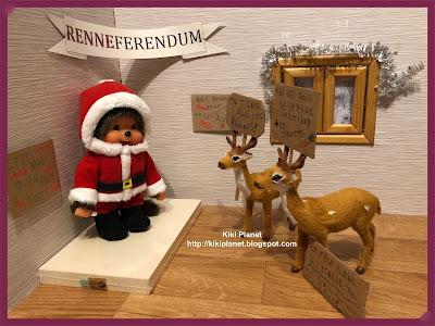 kiki monchhichi rennes reindeer noel Christmas conte tale cute kawai