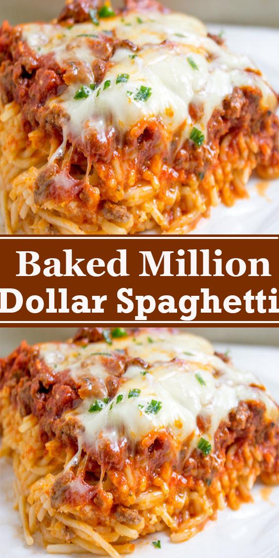Baked Million Dollar Spaghetti #Baked #Million #Dollar #Spaghetti