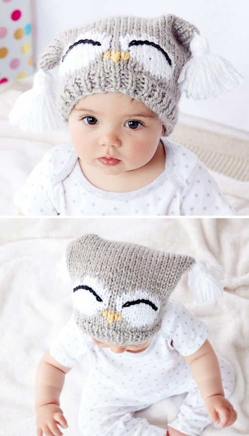 I'm a Hoot Hat - Free Knitting Pattern
