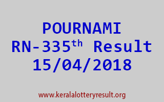 POURNAMI Lottery RN 335 Result 15-04-2018