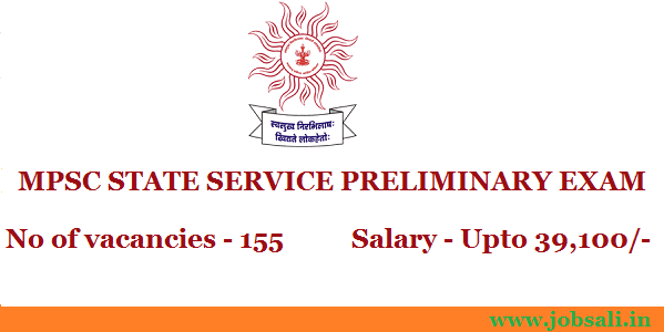 MPSC State Service exam 2017, jobs in Mumbai, Government jobs in Maharashtra