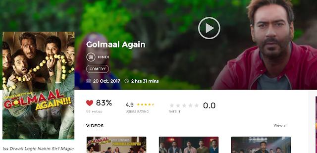 Golmaal Again (2017) Hindi Movie HD 720p avi mp4 3gp hq Download free