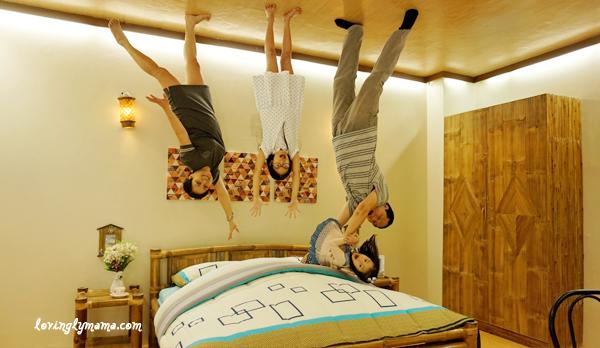 Upside Down World Cebu - bedroom - family time
