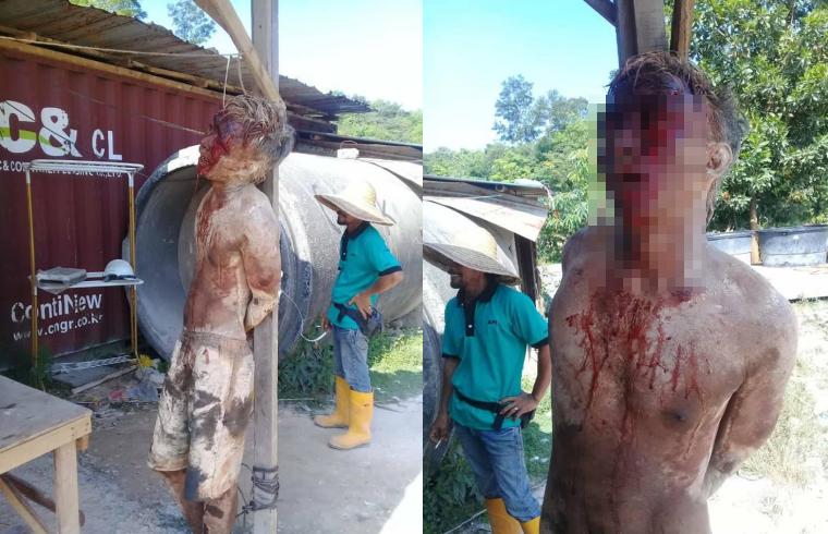 Biadab Sekali , Dikeroyok Sesama TKI,Pria Asal Riau Ini Babak Belum Sampai Berlumuran Darah