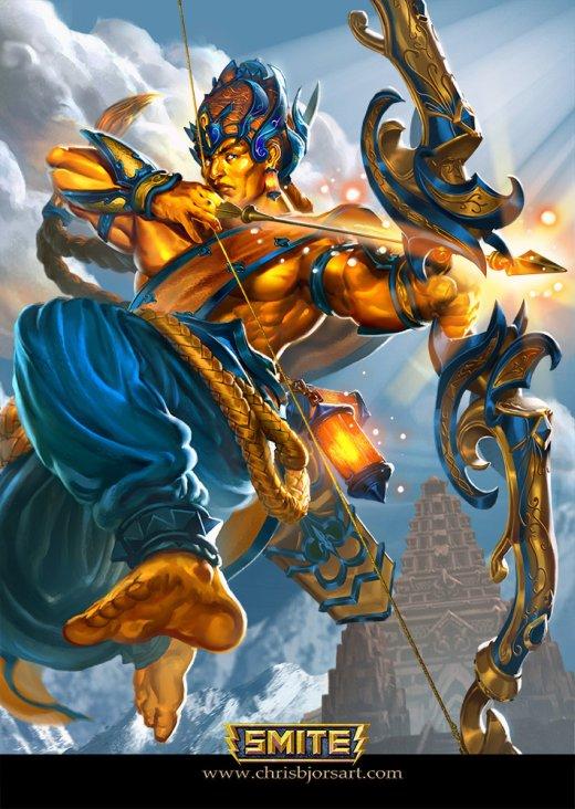 Chris Bjors deviantart ilustrações fantasia games smite deuses