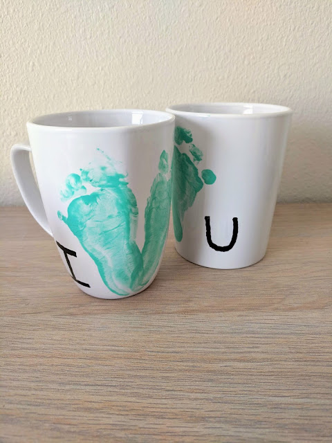 DIY footprint mug for Mother's Day