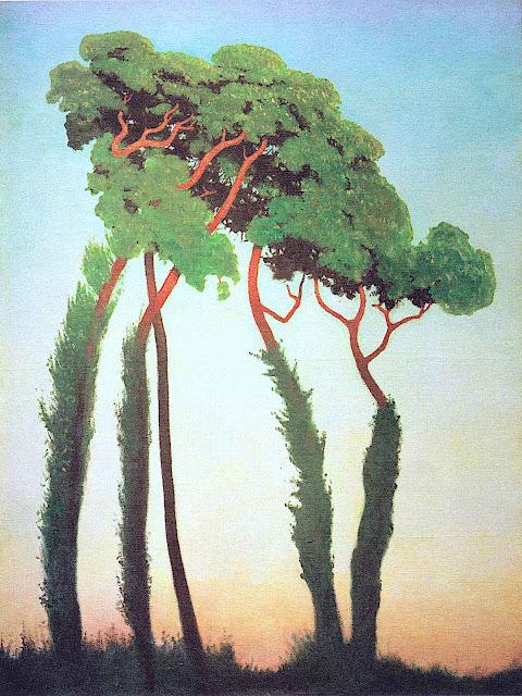 a Felix Vallotton 1911 painting of trees