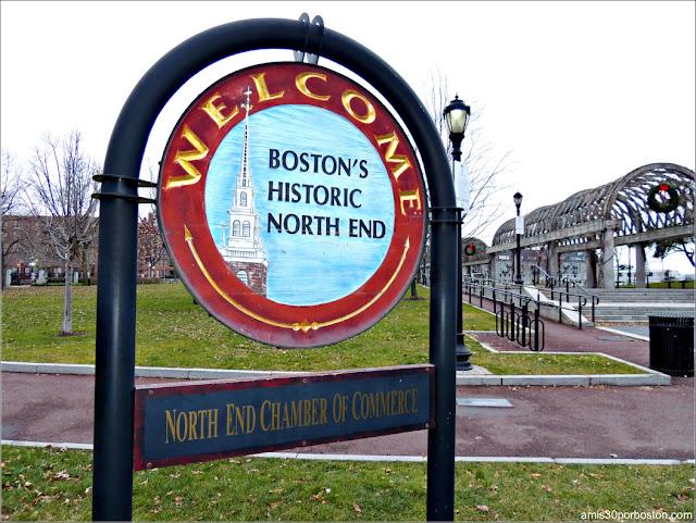 Placa de Bienvenida al North End, Boston