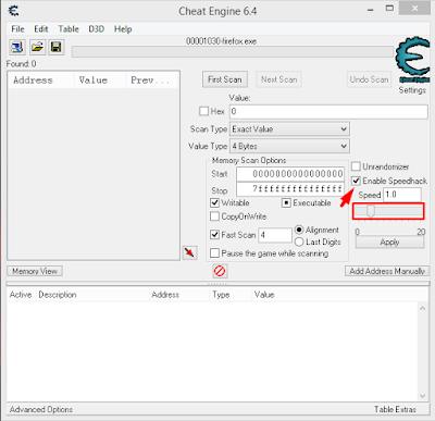 Cara Mempercepat Browser Dengan Cheat Engine 3