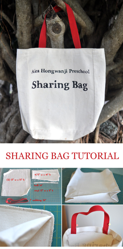 Sharing Tote Bag Sewing Tutorial