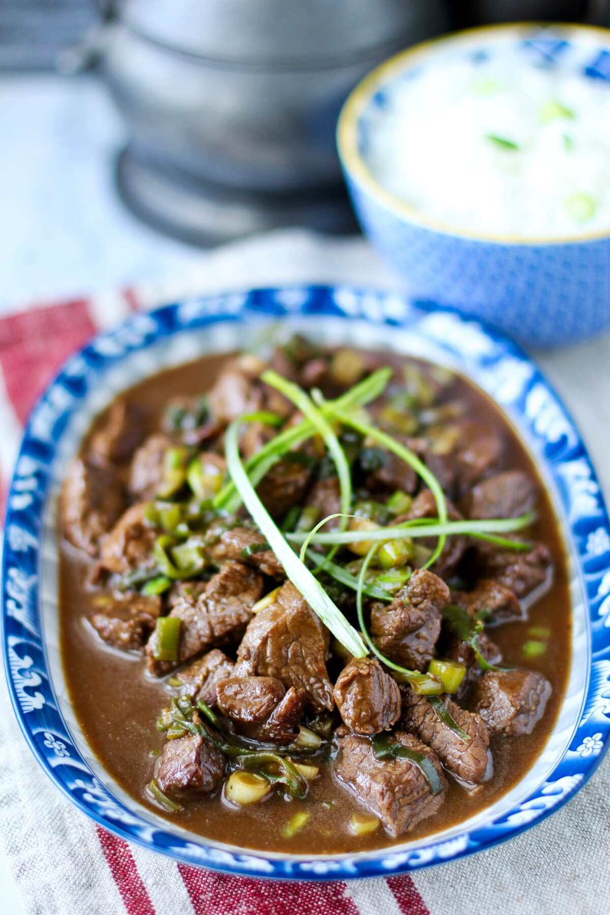 Platter of mongolian lamb