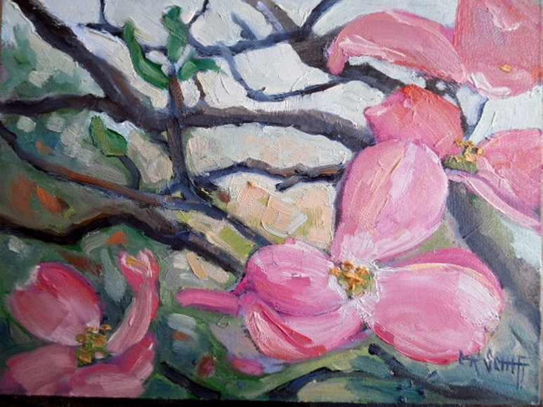 carol schiff daily painting studio dogwood painting
