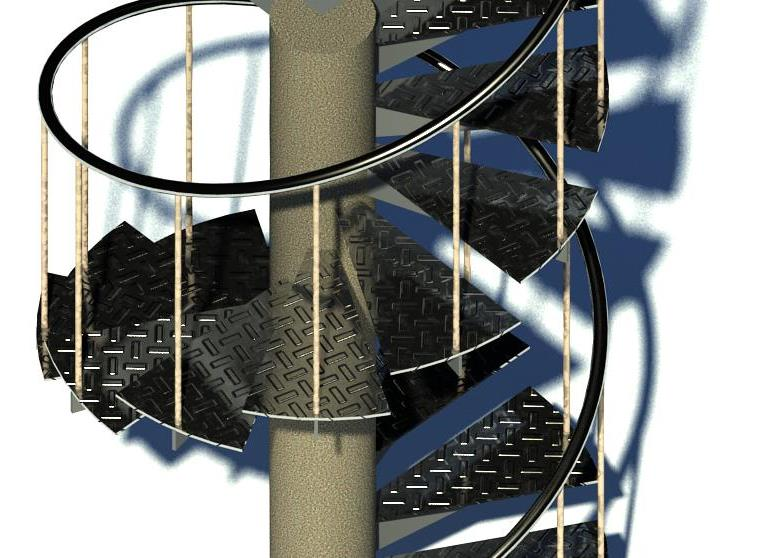 Revit Models: Steel Spiral Staircase