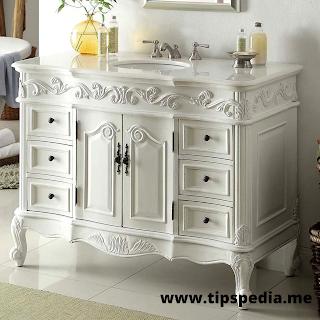 antique white bathroom cabinets
