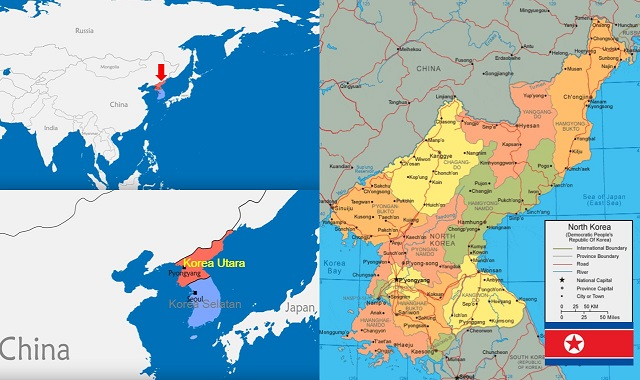 peta korea utara