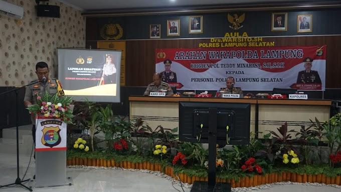 Ini 5 Point Penting Arahan Wakapolda Lampung Kepada Anggota Polres Lamsel