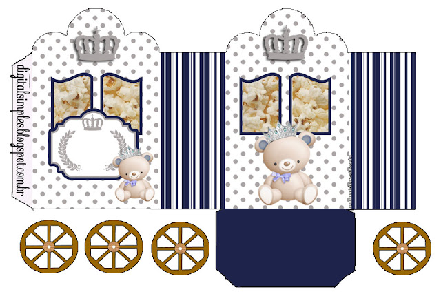 Bear Prince: Princess Carriage Shaped Free Printable Boxes.