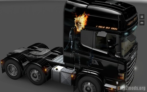 Ghostrider skin for Scania
