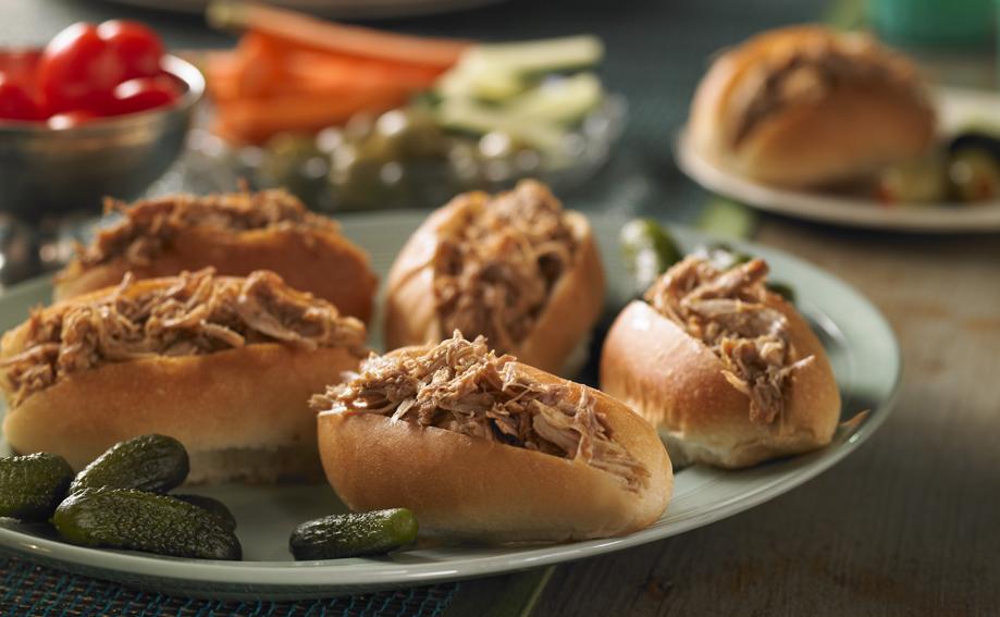 Maple Pulled Turkey Sandwiches