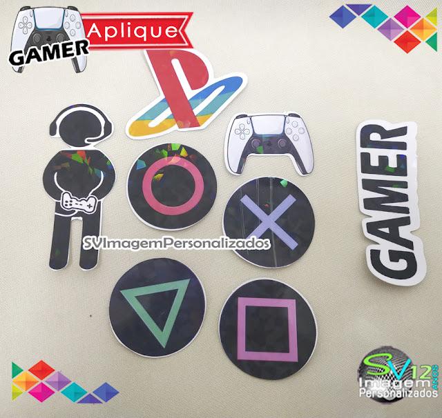 Festa Game Playstation dicas e ideias para decoração de festa personalizados aplique e adesivo