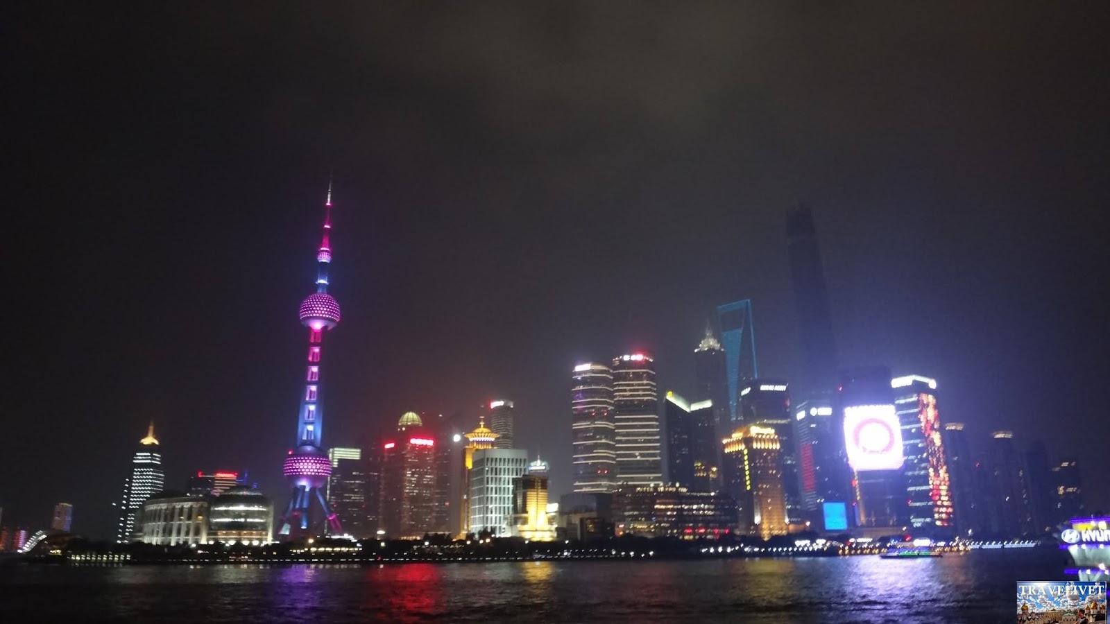 Chine China shanghai bund nuit