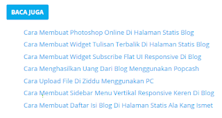 Cara Membuat Related Post Di Dalam Postingan Blog