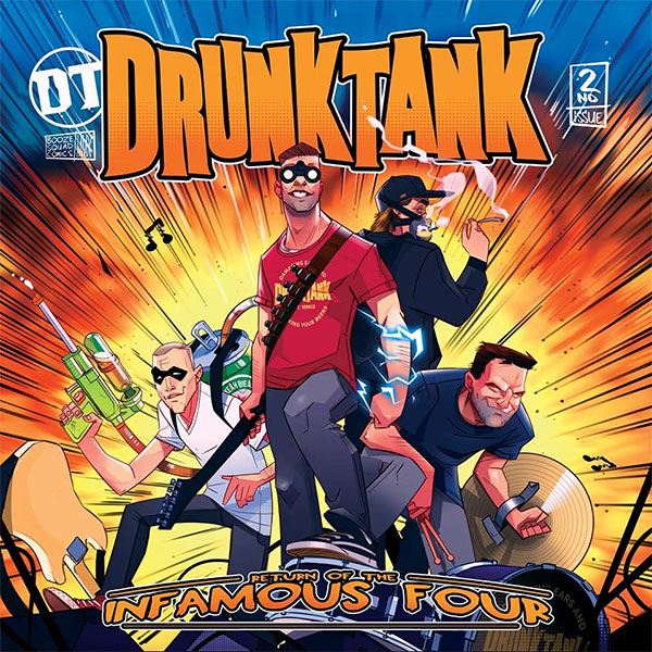 "Drunktank stream new album ""Return Of The Infamous Four"""