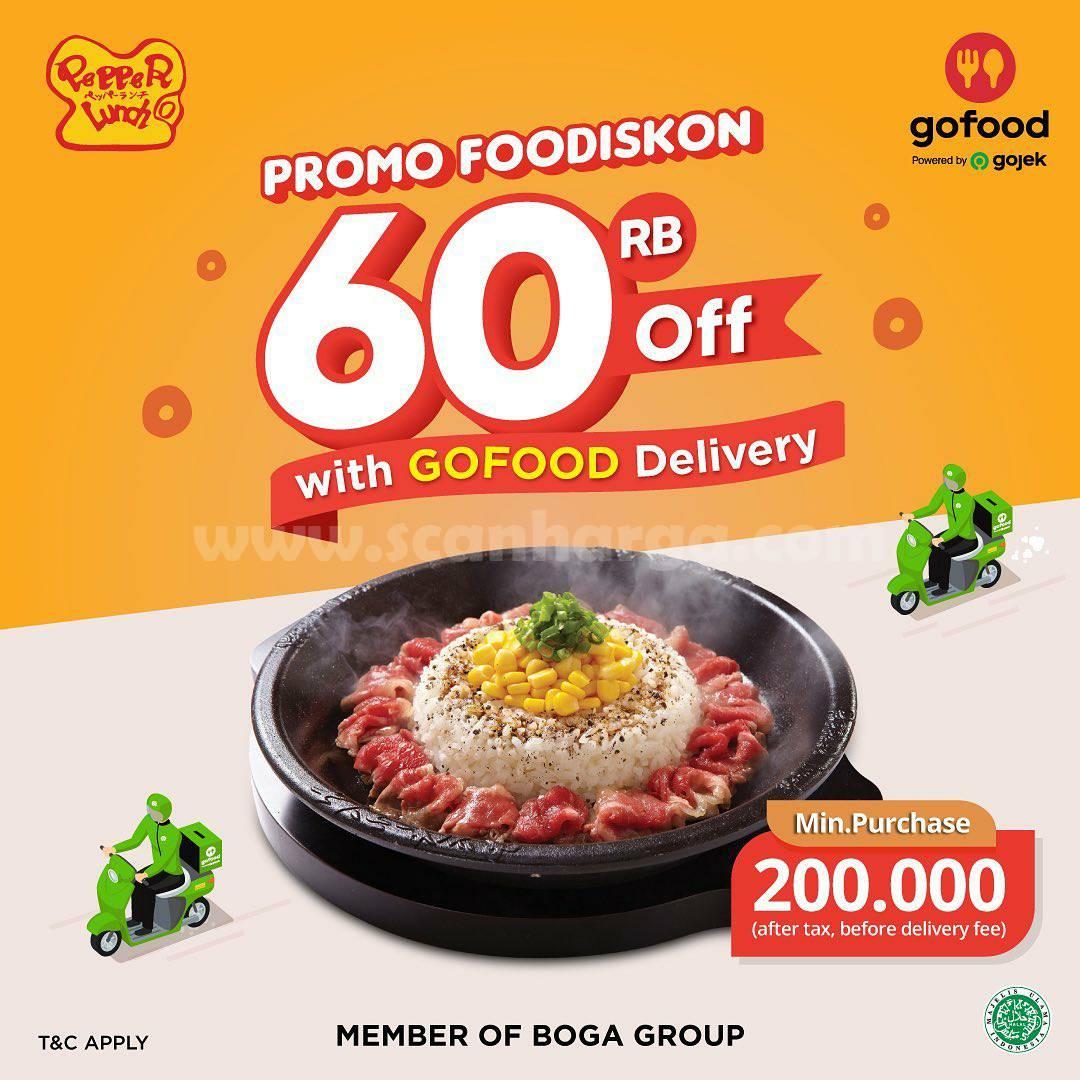 Promo Pepper Lunch Diskon Rp. 60.000 pesan via Gofood
