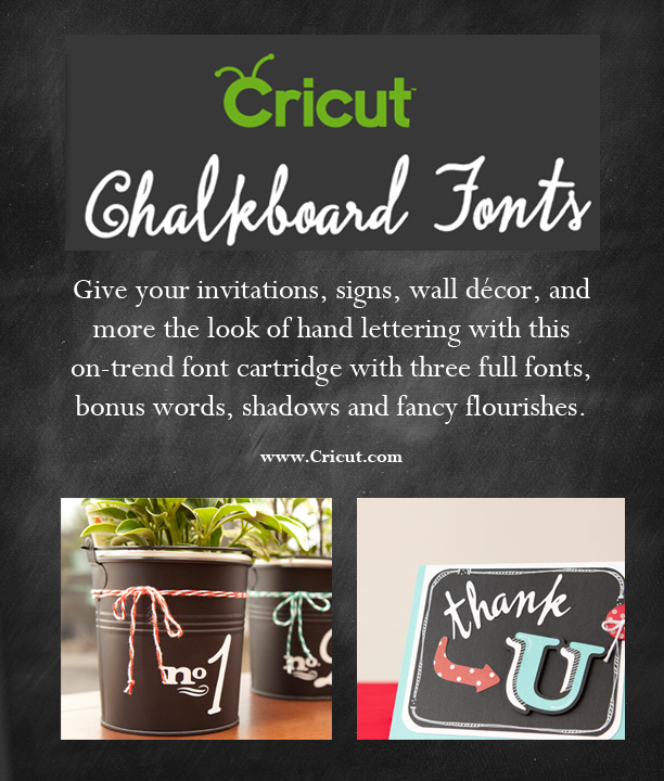 20 Chalkboard Projects & Printables {Plus a Cricut Everyday