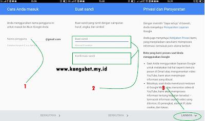 Cara Buat / Daftar Akun Gmail di Hp Android