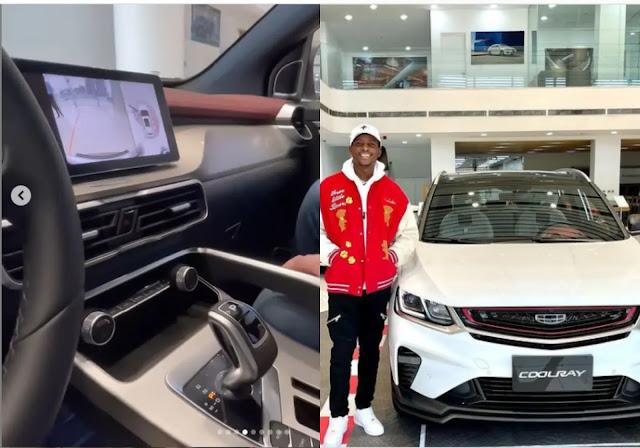 Nigerian Comedian, Sydney Talker buys himself a brand new mileage car (Photos)