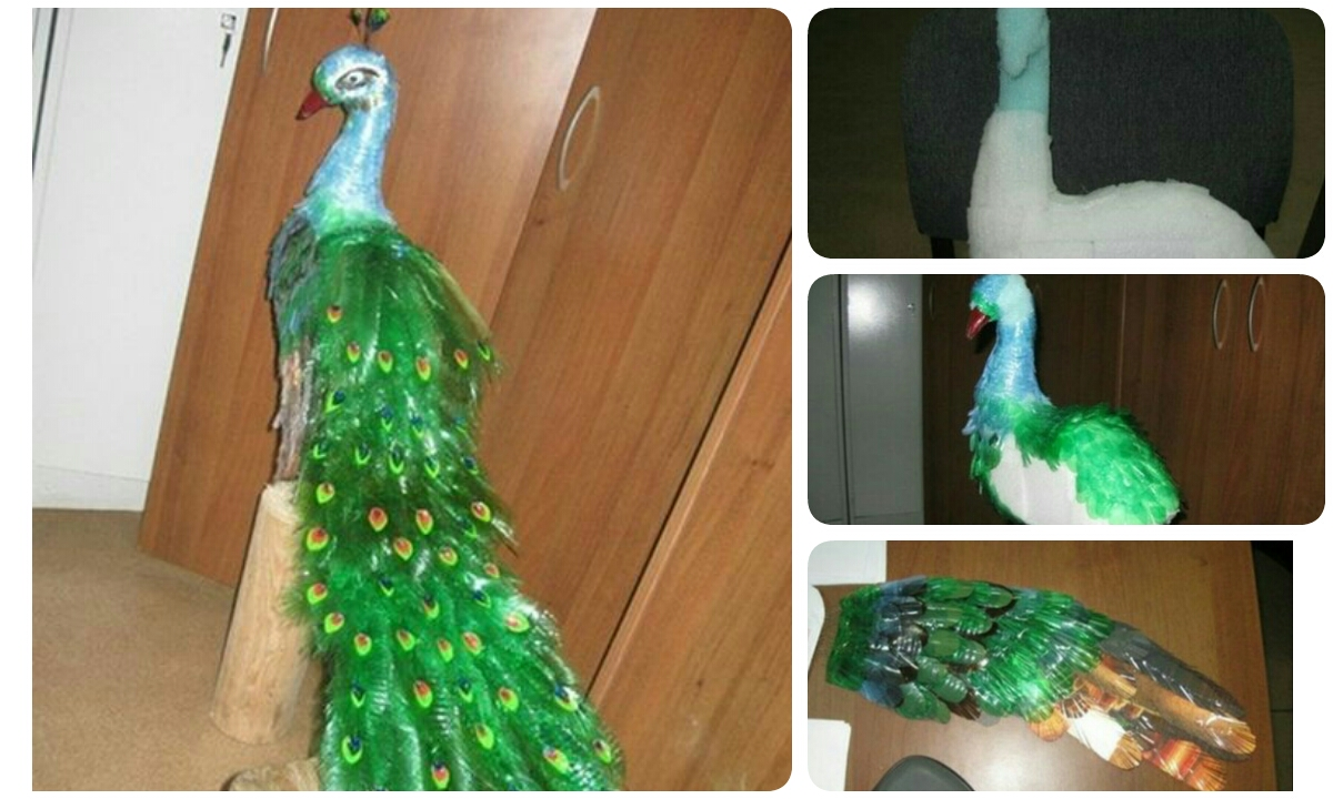 Colorful Beautiful Peacock From Plastic Bottles Crazzy Craft