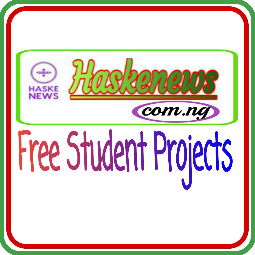 Free  Project and Rsearch Topics For Undergraduates and Postgraduates Students