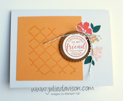 Stampin' Up! Hello Friend Heat Embossing Kit Project Alternative Design ~ www.juliedavison.com