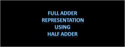 Full Adder representation using half adder