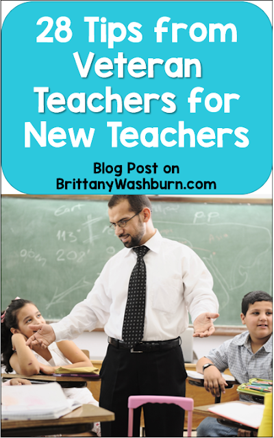 I talked to a number of teaching veterans and asked them to share tips specifically for first-year teachers. They all had amazing advice to share! Many of the ideas were repeated so I've compiled them into a list. Here's their wisdom: