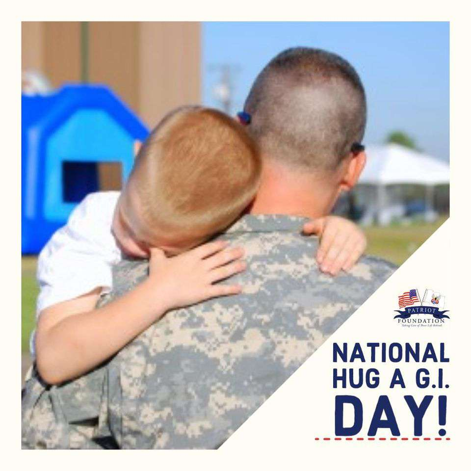 National Hug a G.I. Day Wishes Awesome Picture
