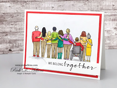 I have a super simple card for Simple Sunday today using the United Through Creativity Digital Download and some Simple Stampin' Blends coloring