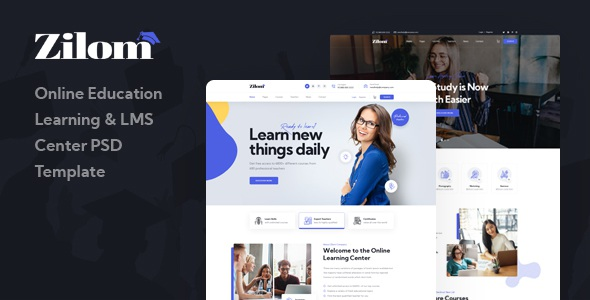 Best Online Education Learning PSD Template